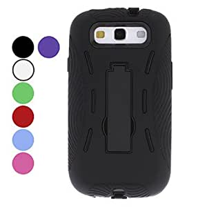 LHY Protective Hard Case with Stand for Samsung Galaxy S3 I9300 (Assorted Colors) , Blue