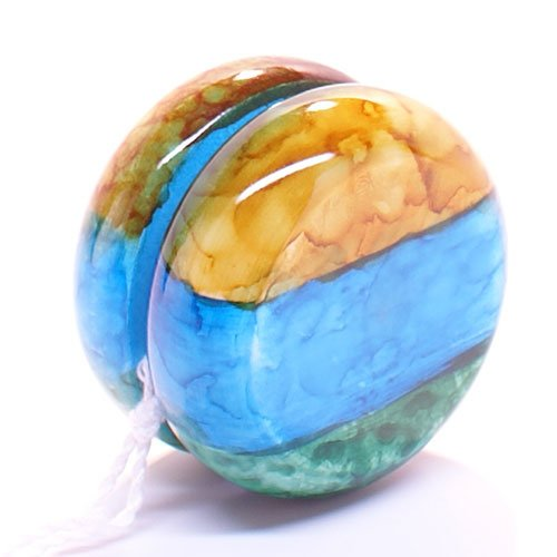 Yellow Blue Green Earth Marble