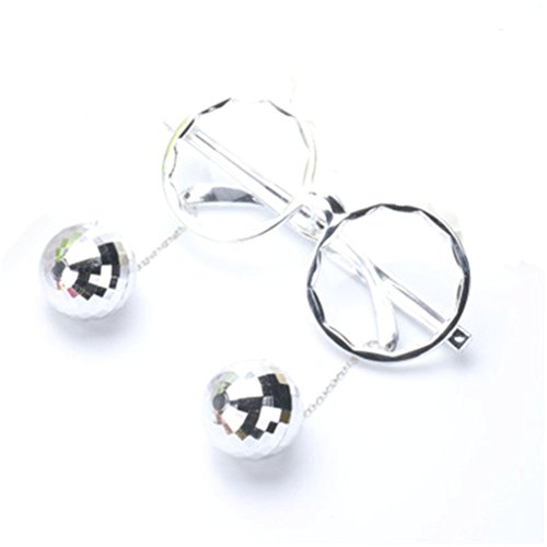 Gafas Gafas plata de Bola Accesorios de Night para de disfraces del partido la decoración Good Atrezzo sol 4zxaq5w5g