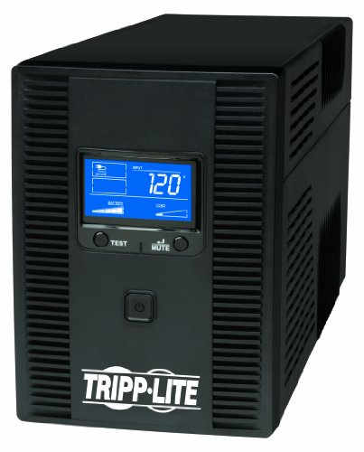 41BFgQqAfPL - Tripp Lite 1500VA 900W UPS Battery Back Up, AVR, LCD Display, Line-Interactive, 10 Outlets, 120V, USB, Tel & Coax Protection (SMART1500LCDT)