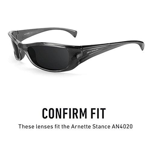 Verres de rechange pour Arnette Stance AN4020 — Plusieurs options Noir Chrome MirrorShield® - Polarisés