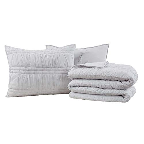 VHC Brands Natasha Silver Cloud King Set,