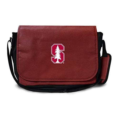 - Zumer Sport Stanford Cardinal Football Leather Laptop Computer Case Messenger Shoulder Bag - Made with Genuine Football Materials - Brown