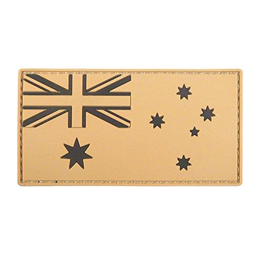 - LEGEEON Mud Desert Australia National Flag Morale Tactical PVC Rubber 3D Hook&Loop Patch