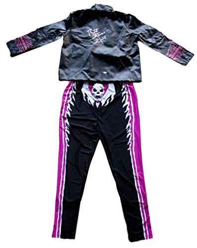 Bret The Costume Hitman (Bret The Hitman Hart Signed WWE Jacket with Full Costume JSA)