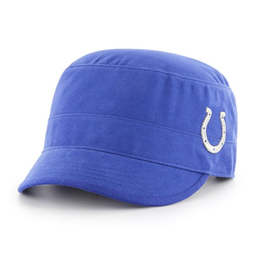 NFL Indianapolis Colts Women's Shipmate OTS Cadet Military-Style Adjustable Hat, Royal, Women's