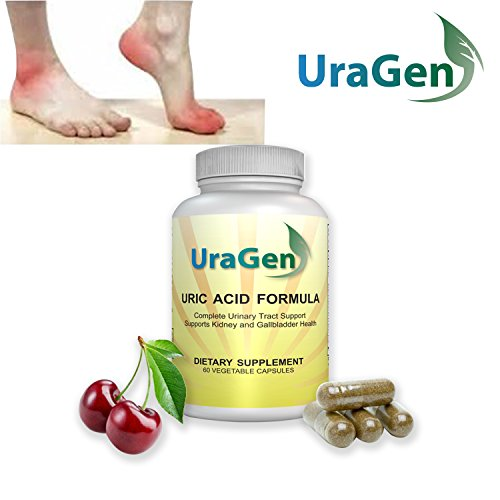 Uragen Total Cleanse Uric Acid 60 Vegetarian Capsules W/ Tart Cherry Extract, Celery Extract, Turmeric & More - Helps To Support Healthy Levels, Safely (1 Bottle, 30 Days) ()