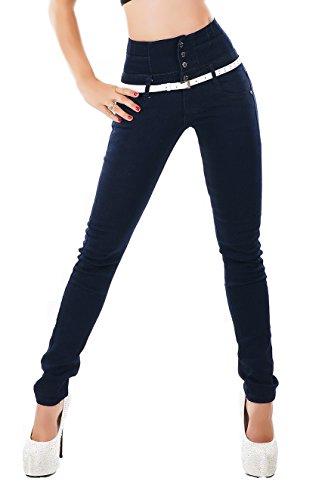Noir Triple XXX - Jeans - Skinny - Femme Bleu bleu