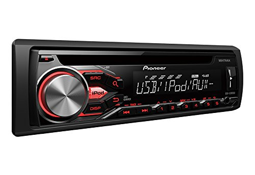 Pioneer DEH-X2800UI Single DIN In-Dash CD AM/FM w/Android/iPod/iPhone, Pandora, MIXTRAX Control, Front Auxiliary & USB Inputs Car Stereo Receiver, Remote Control and Detachable Faceplate
