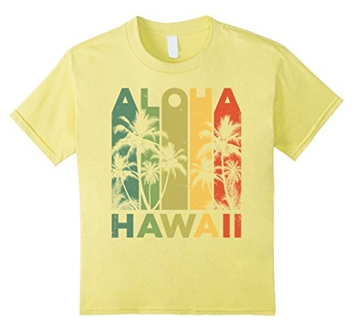n Islands Tee Hawaii Aloha State T-Shirt 8 Lemon (Aloha Girl)