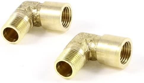 uxcell ヘックスニップル 真鍮 工業用アクセサリー 空気圧カップリング 水空気管 2個入り
