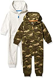 Amazon Essentials Toddler Boys' 2-Pack Microfleece Hooded Cove