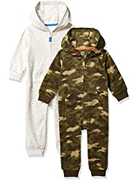 Amazon Essentials Boys 2-Pack Microfleece Hooded Coverall Hooded Sweatshirt