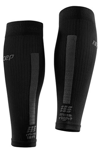 CEP Women's Compression Run Sleeves Calf Sleeves 3.0, Black/Dark Grey II by CEP (Image #3)