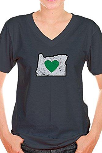Heart in Oregon Ladies T-Shirt - Heathered & Super Soft Material (Medium)