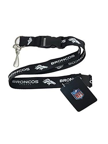 - PSG INC NFL Denver Broncos Sports Lanyard Keychain with Detachable Clip, Black