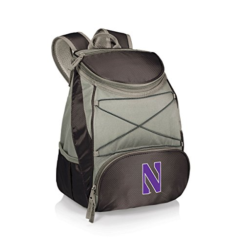 (NCAA Northwestern Wildcats PTX Insulated Backpack Cooler, Black)