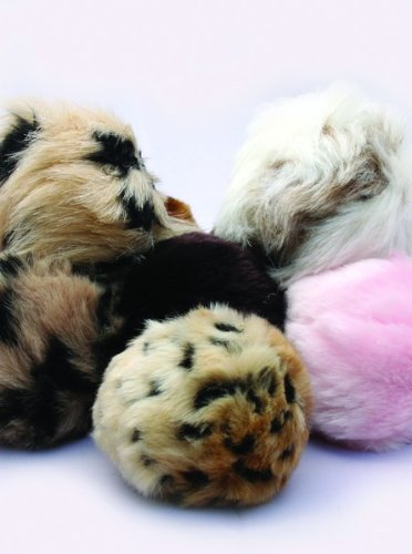 Enchantacat Tiki Ball Cat Toy (Animal Print Received May Vary) 1ea, My Pet Supplies