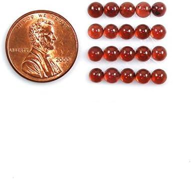 10455 Natural Red Garnet Cabs Round 4mm Approximately 9.00 Carat Loose Gemstone