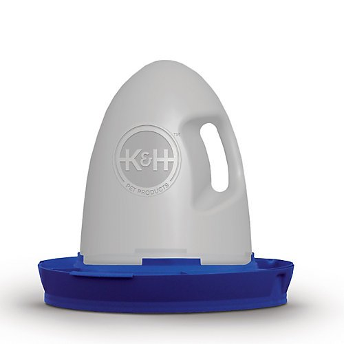 K&H Manufacturing Poultry Waterer 2.5 Gallon Blue (Water Heater Base For Chickens compare prices)