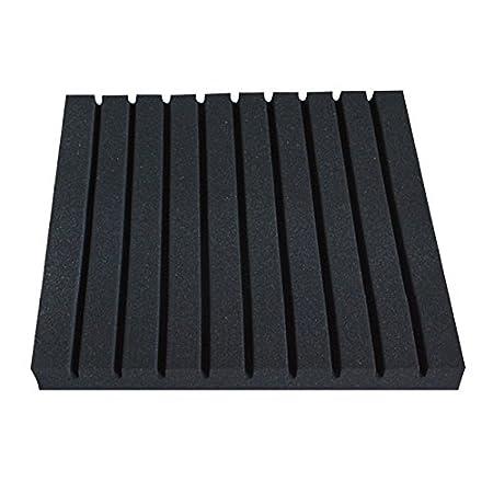 BouT Lot de dalles en mousse acoustique 50 x 50 x 2 cm Noir