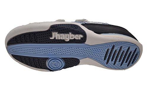 JHayber Wiosa - Deportivo de piel para niño con cierre de velcro