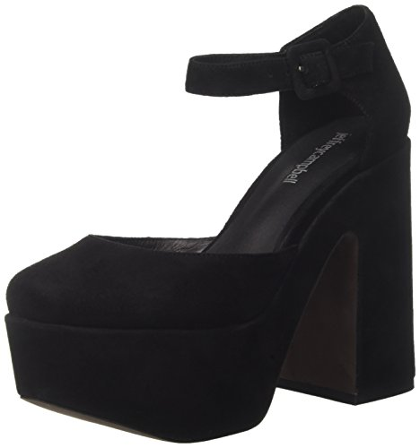 Jeffrey Campbell Women's Jeneve Suede Closed Toe Heels Black (Nero) emanJRJo