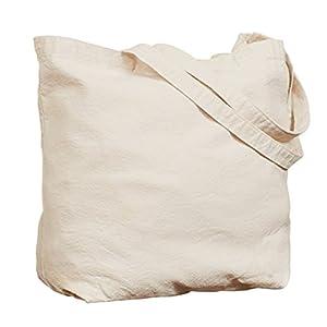 CafePress Peace Love Sock Monkeys Natural Canvas Tote Bag, Reusable Shopping Bag