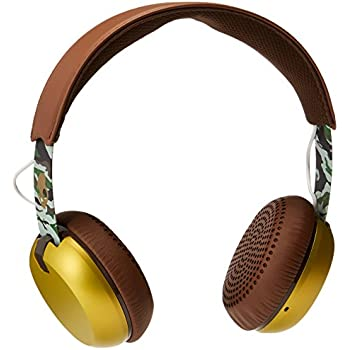 Skullcandy Grind On-Ear Headphones with Built-In Mic, Scout Brown and Gold
