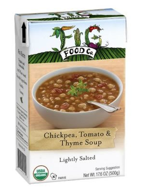 Fig Food Company Organic Chickpea Tomato And Thyme Soup Lightly Salted, 14.5 OZ (Pack of 6)