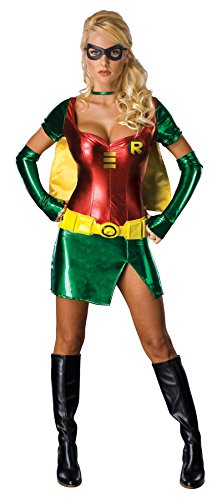 Sexy Female Robin Costumes - UHC Dc Comics Sexy Robin Outfit Movie Theme Womens Fancy Dress Halloween Costume, XS (0-2)