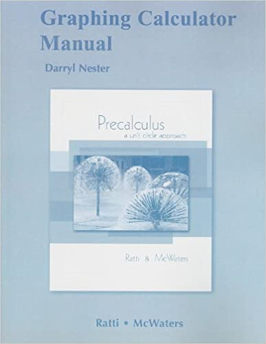 Graphing Calculator Manual for Precalculus: A Unit Circle Approach ...