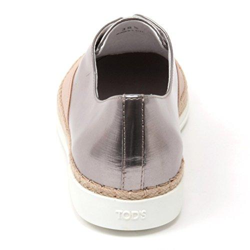 Tod's Woman Pelle Cipria Shoe Sneaker Rafia B4612 Donna Francesina 8Zq8wgY