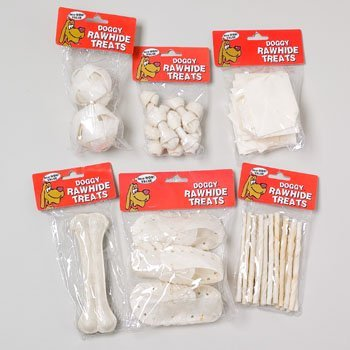 RGP 66613P Dog Rawhide White Small 6 Assorted, Pack Of 144