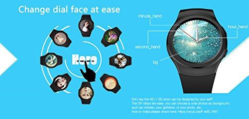 Amazon.com: lemow® Nº 1 G3 teléfono teléfono SmartWatch W ...
