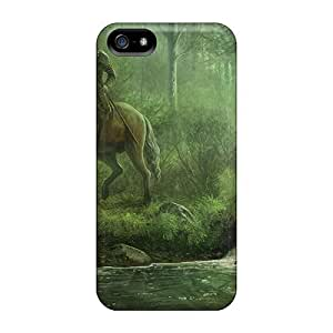 Rugged Skin Case Cover For Iphone 5/5s- Eco-friendly Packaging(the Meeting)