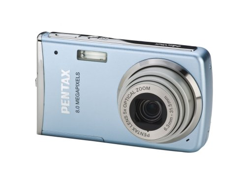 (Pentax Optio M50 8MP Digital Camera with 5x Optical Zoom (Light Blue) )