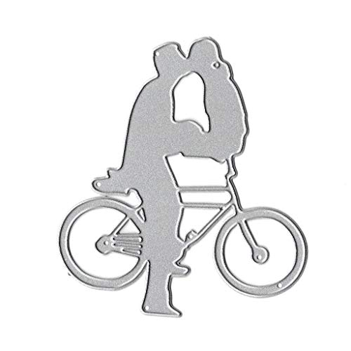 ciriQQ Bicycle Kiss Metal Cutting Dies Stencil DIY Scrapbooking Album Stamp Paper Card Embossing Crafts Decor