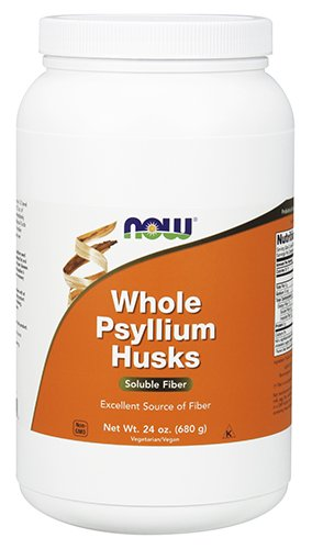 NOW Psyllium Husks Whole, 24-Ounce 12 Ounce Psyllium