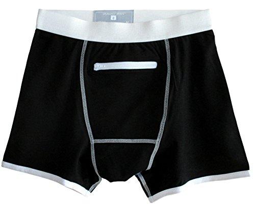 Speakeasy Briefs, Men's Stash Underwear with a Secret Front Pocket, Large, Black