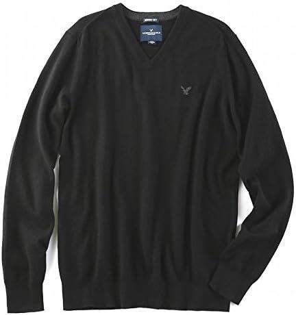 (アメリカンイーグル ) AMERICAN EAGLE/Vネックセーター ワンポイント 大きい サイズ メンズXL XXL XXXL [並行輸入品]