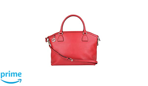 fb717fa93628 Amazon.com: Gucci GG Charm Red Leather Large Convertible Dome Bag With  Detachabel Strap 449660 6420: Shoes