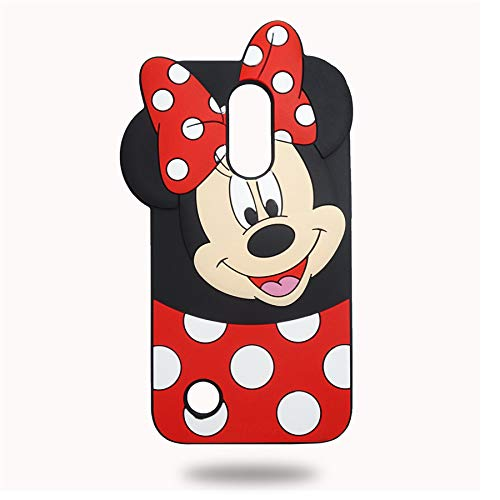 (LG K30 Case, LG Xpression Plus/LG Premier Pro/LG Phoenix Plus/LG K10 2018 / LG Harmony 2 Minnie Mouse Phone Case Soft Silicone Cute Cartoon Cool Case Cover for Kids Girls Ladies)