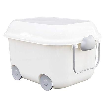 favourall aufbewahrungsbox plástico con Tapa, 15L PP de plástico Caja con Ruedas través Mango Adecuado