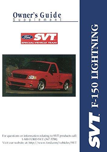 1999 Ford Truck F-150 SVT Lightning Owners Manual Supplement User Guide Operator (Svt Truck Lightning)