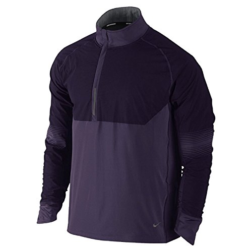 Nike DRI FIT Sphere Running 1/2 Zip Mens Track Jacket Thermal 519785 (Medium) Purple