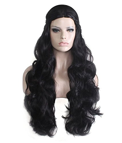 Costumes Best Black People (Mildiso Cosplay Wig for Halloween Long Curly Costume Wig for Women Girls Black)