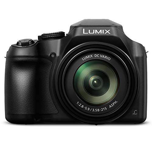 PANASONIC LUMIX FZ80 4K 60X Zoom Camera, 18.1 Megapixels, DC VARIO 20-1200mm Lens, F2.8-5.9, 4K 30p Video, Power O.I.S., WiFi ? DC-FZ80K (USA BLACK) (Renewed)