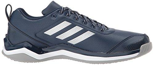 adidas Performance Herren Speed Trainer 3 SL Baseballschuh Collegiate Navy, Silber Met., Ftwr Weiß