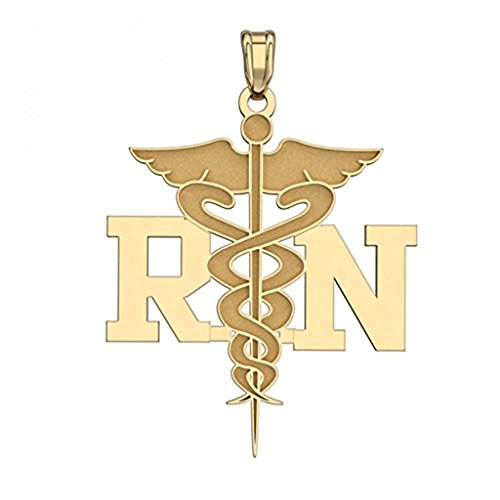 PicturesOnGold.com 14K Filled Gold MEDICAL EMBLEM PENDANT - APPROXIMATLEY 2/3 X 1 Inch WITH ENGRAVING